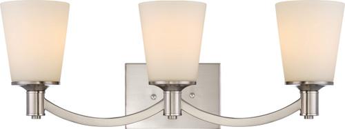 NUVO Lighting 60/5823 Laguna 3 Light Vanity with White Glass
