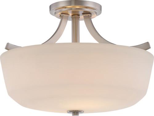 NUVO Lighting 60/5826 Laguna 2 Light Semi Flushmount with White Glass