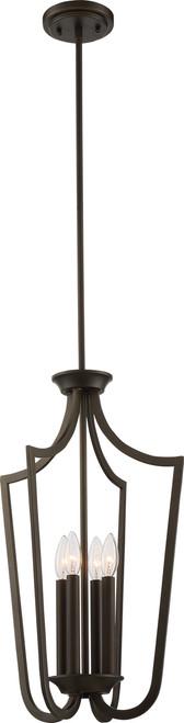 NUVO Lighting 60/5976 Laguna 4 Light Caged Pendant Aged Bronze