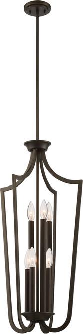 NUVO Lighting 60/5977 Laguna 6 Light Caged Pendant Aged Bronze