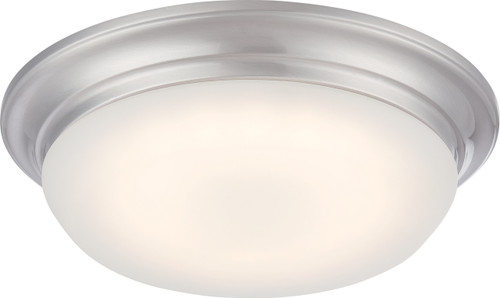 NUVO Lighting 62/602 Libby LED Flushmount Fixture with Frosted Glass