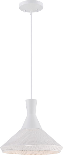 NUVO Lighting 62/482 Luger 1 Light Perforated Metal Shade Pendant with 14W LED PAR (Bulb Included)