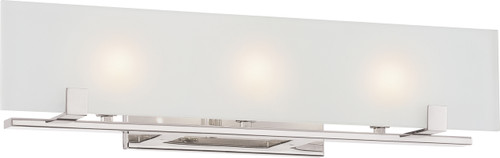 NUVO Lighting 60/5177 Lynne 3 Light Halogen Vanity Fixture with Frosted Glass (Bulbs Included)