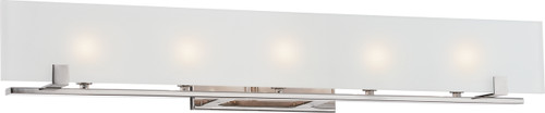 NUVO Lighting 60/5178 Lynne 5 Light Halogen Vanity Fixture with Frosted Glass (Bulbs Included)