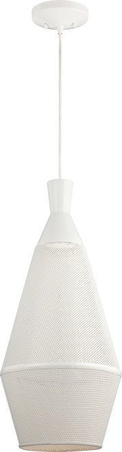 NUVO Lighting 62/483 Marx 1 Light Perforated Metal Shade Pendant with 14W LED PAR (Bulb Included)