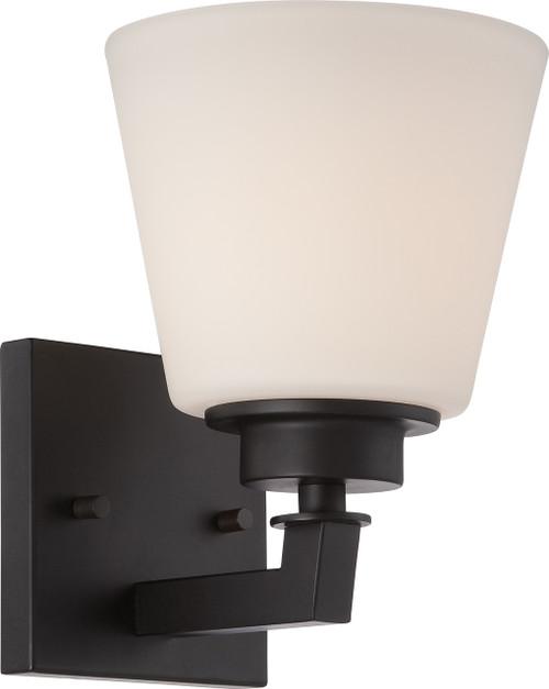 NUVO Lighting 60/5551 Mobili 1 Light Vanity Fixture with Satin White Glass