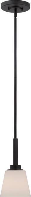 NUVO Lighting 60/5557 Mobili 1 Light Mini Pendant with Satin White Glass