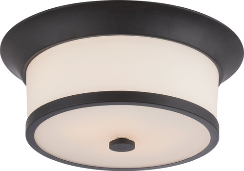 NUVO Lighting 60/5560 Mobili 2 Light Flushmount Fixture with Satin White Glass