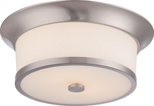 NUVO Lighting 60/5460 Mobili 2 Light Flushmount Fixture with Satin White Glass
