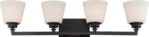 NUVO Lighting 60/5554 Mobili 4 Light Vanity Fixture with Satin White Glass