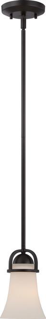 NUVO Lighting 60/5588 Nevel 1 Light Mini Pendant with Satin White Glass
