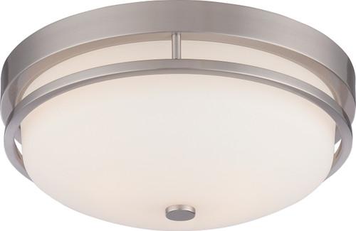 NUVO Lighting 60/5486 Nevel 2 Light Flushmount Fixture with Satin White Glass