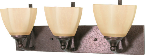 """NUVO Lighting 60/061 Normandy 3 Light 22"""" Vanity with Champagne Linen Washed Glass"""