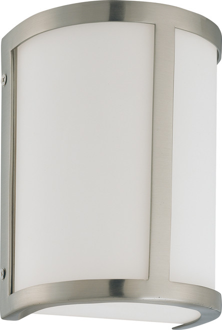 NUVO Lighting 60/3801 Odeon ES 1 Light Wall Sconce with White Glass (1) 13W GU24 (Bulb Included)