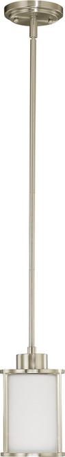 NUVO Lighting 60/2866 Odeon 1 Light Mini Pendant with Satin White Glass