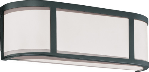 NUVO Lighting 60/2972 Odeon 2 Light Wall Sconce with Satin White Glass