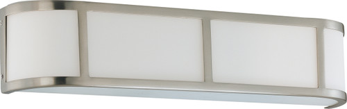 NUVO Lighting 60/2873 Odeon 3 Light Wall Sconce with Satin White Glass