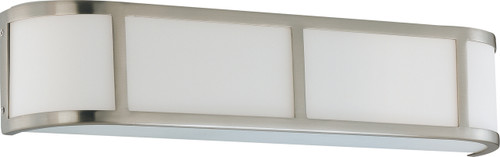 NUVO Lighting 60/3803 Odeon ES 3 Light Wall Sconce with White Glass (3) 13W GU24 (Bulbs Included)