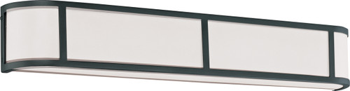 NUVO Lighting 60/2974 Odeon 4 Light Wall Sconce with Satin White Glass