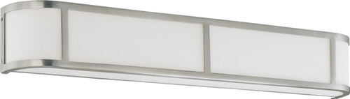 NUVO Lighting 60/3804 Odeon ES 4 Light Wall Sconce with White Glass (4) 13W GU24 (Bulbs Included)