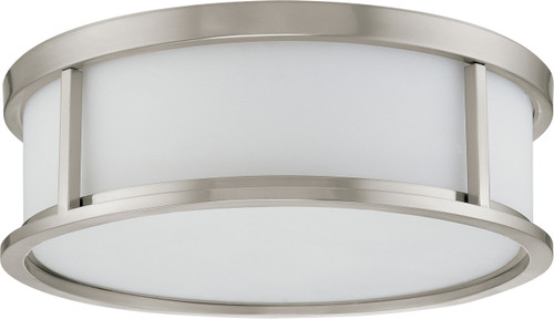 """NUVO Lighting 60/3812 Odeon ES 3 Light 15"""" Flushmount Dome with White Glass (3) 13W GU24 (Bulbs Included)"""