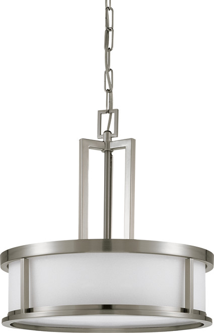 NUVO Lighting 60/2857 Odeon 4 Light Pendant with Satin White Glass