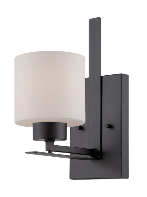 NUVO Lighting 60/5301 Parallel 1 Light Vanity Fixture with Etched Opal Glass