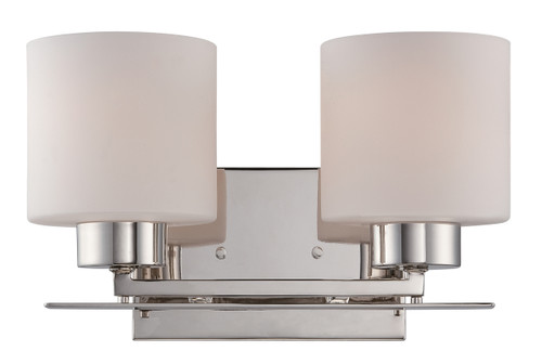NUVO Lighting 60/5202 Parallel 2 Light Vanity Fixture with Etched Opal Glass