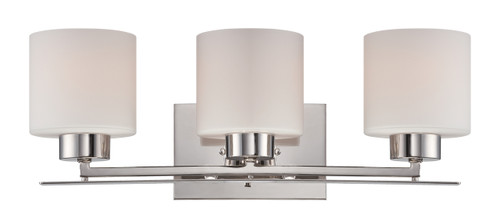 NUVO Lighting 60/5203 Parallel 3 Light Vanity Fixture with Etched Opal Glass