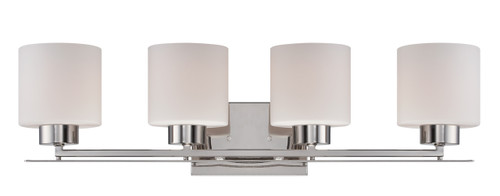 NUVO Lighting 60/5204 Parallel 4 Light Vanity Fixture with Etched Opal Glass