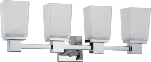 NUVO Lighting 60/4004 Parker 4 Light Vanity Fixture with Sandstone Etched Glass