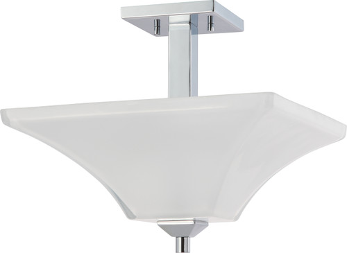 NUVO Lighting 60/4007 Parker 2 Light Semi Flushmount Fixture with Sandstone Etched Glass