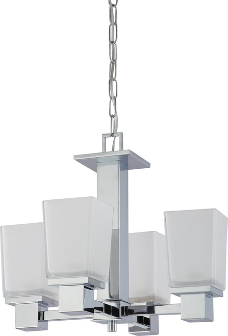 NUVO Lighting 60/4005 Parker 4 Light Chandelier with Sandstone Etched Glass