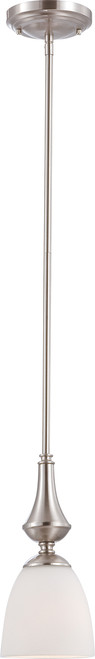 NUVO Lighting 60/5037 Patton 1 Light Mini Pendant with Frosted Glass