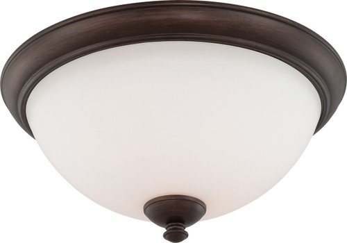NUVO Lighting 60/5141 Patton 3 Light Flushmount Fixture with Frosted Glass