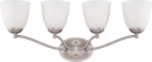 NUVO Lighting 60/5034 Patton 4 Light Vanity Fixture with Frosted Glass