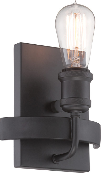 NUVO Lighting 60/5721 Paxton 1 Light Wall Sconce Includes 40W A19 Vintage Lamp