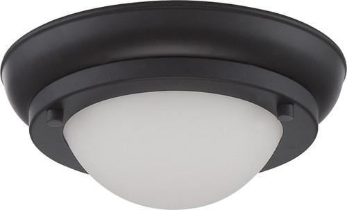 NUVO Lighting 62/512 Poke Mini LED Flushmount Fixture with Satin White Glass