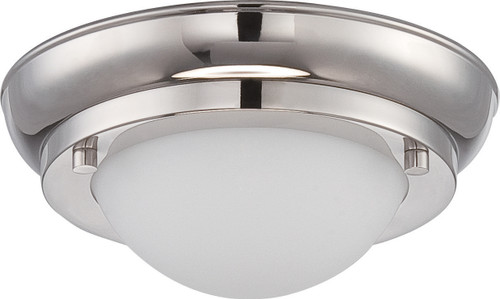 NUVO Lighting 62/513 Poke Mini LED Flushmount Fixture with Satin White Glass