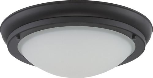 NUVO Lighting 62/515 Poke Medium LED Flushmount Fixture with Satin White Glass