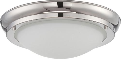 NUVO Lighting 62/516 Poke Medium LED Flushmount Fixture with Satin White Glass