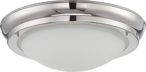 NUVO Lighting 62/519 Poke Large LED Flushmount Fixture with Satin White Glass