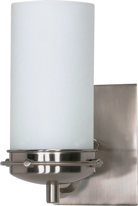 """NUVO Lighting 60/611 Polaris 1 Light 5"""" Vanity with Satin Frosted Glass Shade"""