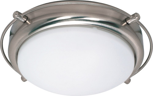 """NUVO Lighting 60/608 Polaris 2 Light 14"""" Flushmount with Satin Frosted Glass Shades"""