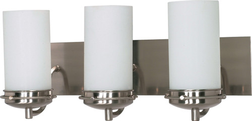 """NUVO Lighting 60/613 Polaris 3 Light 21"""" Vanity with Satin Frosted Glass Shades"""