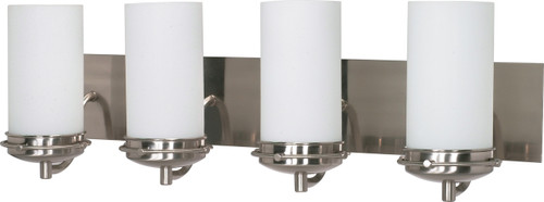 """NUVO Lighting 60/614 Polaris 4 Light 30"""" Vanity with Satin Frosted Glass Shades"""