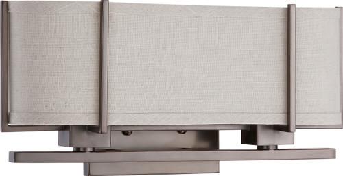 NUVO Lighting 60/4454 Portia 2 Light Sconce with Khaki Fabric Shade (2) 13W GU24 (Bulbs Included)