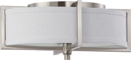 NUVO Lighting 60/4468 Portia 2 Light Oval Pendant with Slate Gray Fabric Shades (2) 13W GU24 (Bulbs Included)