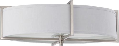 NUVO Lighting 60/4349 Portia ES 6 Light Oval Flushmount with Slate Gray Fabric Shade (6) 13W GU24 (Bulbs Included)