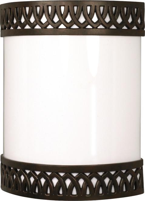 "NUVO Lighting 60/931 Rustica 1 Light CFL 9"" Wall Fixture (1) 18W GU24 (Bulbs Included)"